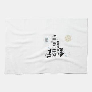 Astronauts are born in April Zg6v6 Kitchen Towel