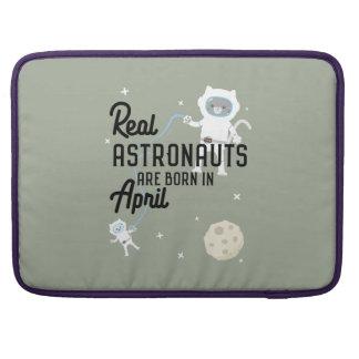 Astronauts are born in April Zg6v6 MacBook Pro Sleeve