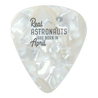 Astronauts are born in April Zg6v6 Pearl Celluloid Guitar Pick