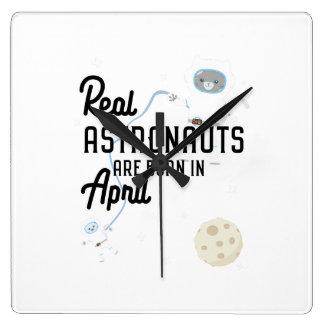 Astronauts are born in April Zg6v6 Square Wall Clock
