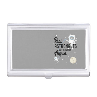 Astronauts are born in August Ztw1w Business Card Holder