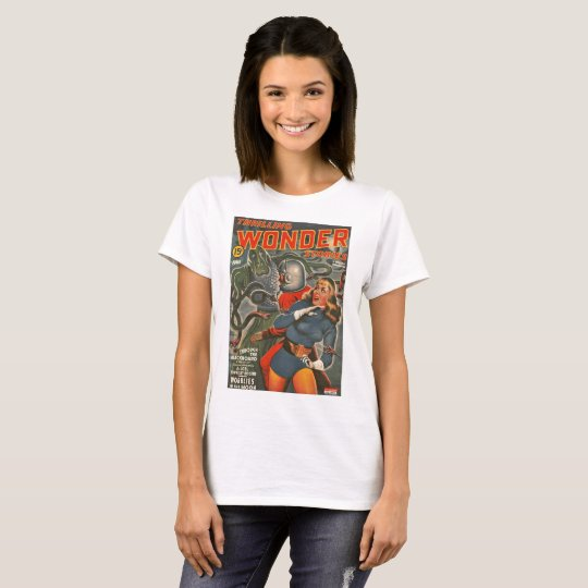Astronauts Attacked by Tentacle Monster T-Shirt