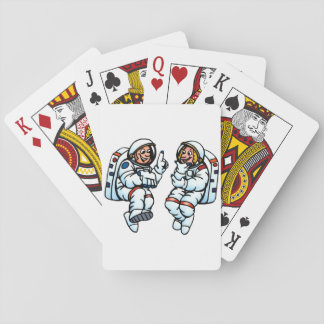 Astronauts Playing Cards