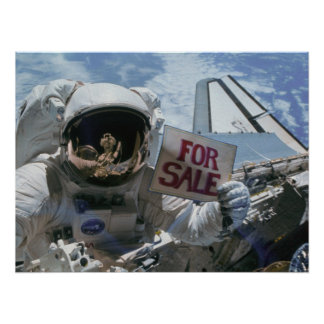 Astronauts post satellites for sale (STS-51A) Poster