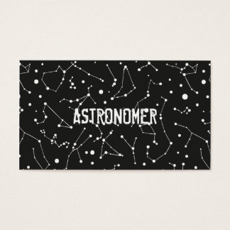 Astronomer and Constellations Business Card