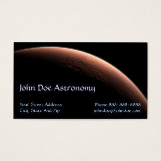 Astronomer Astronomy Solar System Business Card