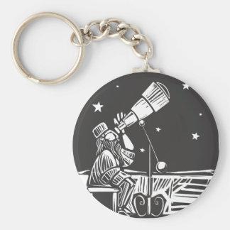 Astronomer Basic Round Button Keychain