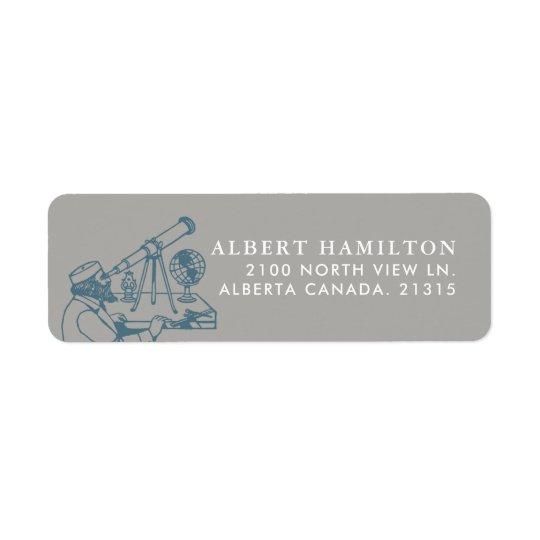 Astronomer Vintage Personalized Return Address Label