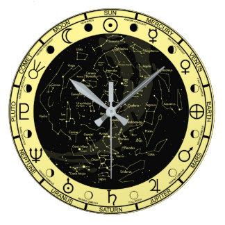 Astronomer's Astronomy Symbols Constellation Clock