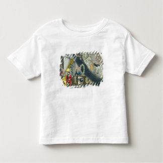 Astronomers looking through a telescope, detail fr toddler t-shirt