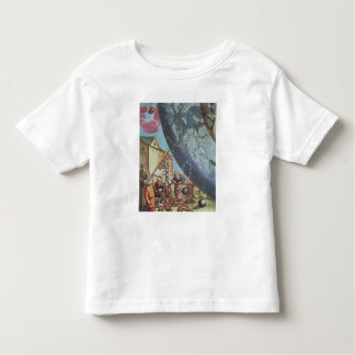 Astronomers looking through a telescope toddler t-shirt