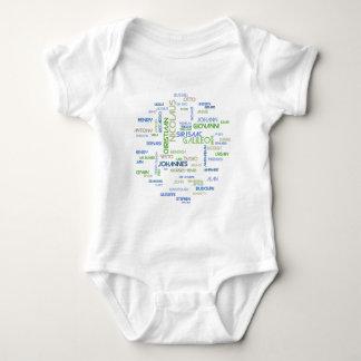 Astronomers Word Cloud Baby Bodysuit