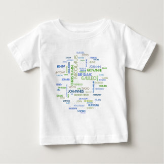 Astronomers Word Cloud Baby T-Shirt