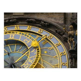 Astronomic Clock Prague Postcard