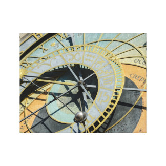 Astronomical Clock in Prague Czech Republic Canvas Print