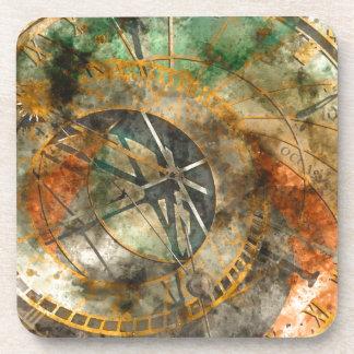 Astronomical clock in Prague, Czech Republic Drink Coasters
