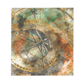 Astronomical clock in Prague, Czech Republic Notepad