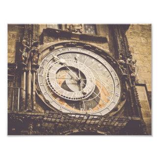 Astronomical Clock in Prague Czech Republic Photo Print