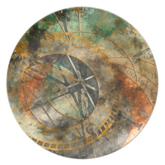Astronomical Clock in Prague Czech Republic Plate