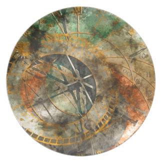 Astronomical clock in Prague, Czech Republic Plate