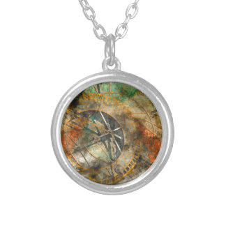 Astronomical clock in Prague, Czech Republic Silver Plated Necklace