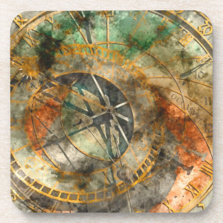 Astronomical clock in Prague Drink Coasters