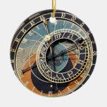Astronomical Clock In Praque Round Ceramic Ornament