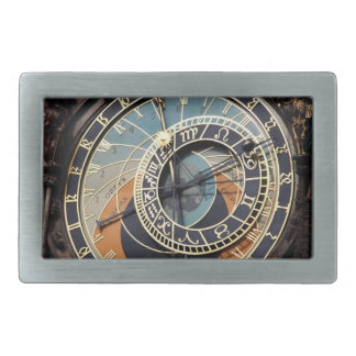 Astronomical Clock In Praque Rectangular Belt Buckles