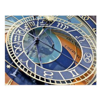 Astronomical Clock, Old Town, Prague Postcard