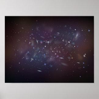 Astronomical scene. poster