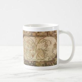 Astronomie vintage, carte céleste de Planisphere Mug Blanc