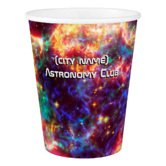 Astronomy Club, Cassiopeia, Milky Way Supernova Paper Cup