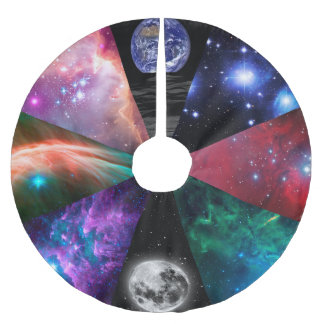Astronomy Collage Brushed Polyester Tree Skirt