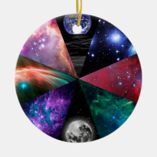 Astronomy Collage Ceramic Ornament