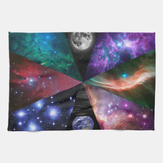Astronomy Collage Kitchen Towel