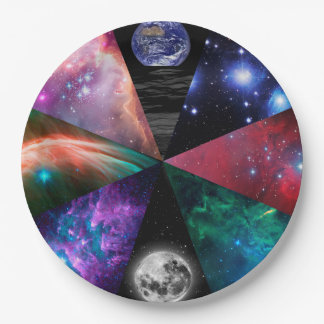 Astronomy Collage Paper Plate