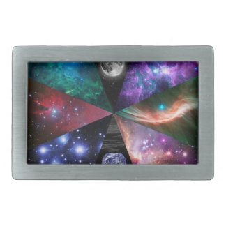 Astronomy Collage Rectangular Belt Buckle