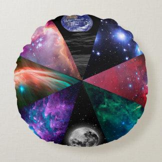 Astronomy Collage Round Pillow