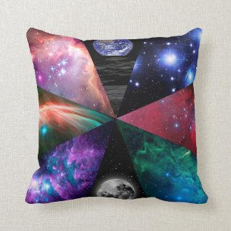 Astronomy Collage Throw Pillow