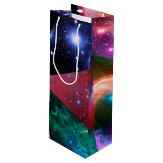 Astronomy Collage Wine Gift Bag