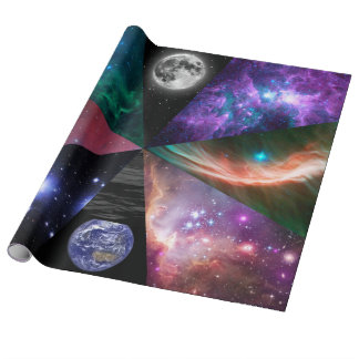 Astronomy Collage Wrapping Paper