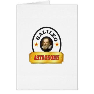 astronomy galileo card