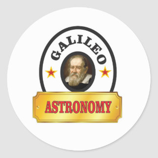 astronomy galileo round sticker