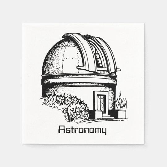 Astronomy Observatory Paper Napkins