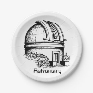 Astronomy Observatory Paper Plate