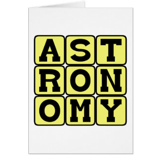 Astronomy, Study of Outer Space Card