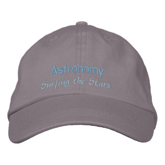 Astronomy Surfing the Stars Embroidered Hat