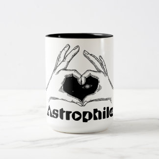 ASTROPHILE - Lover of space and astronomy Two-Tone Coffee Mug