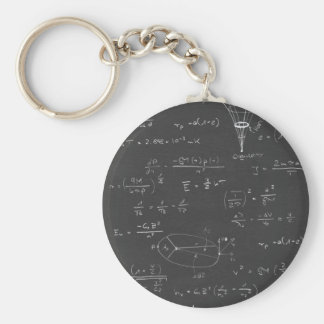 Astrophysics diagrams and formulas basic round button keychain