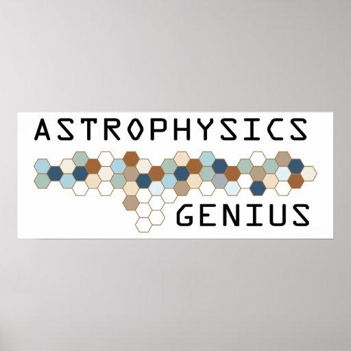 Astrophysics Genius Poster